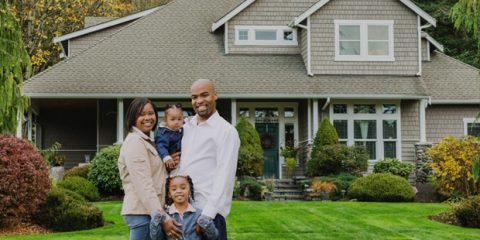 new home for family of four